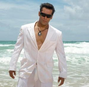 Salman Khan White Shirt Handsome Pic On The Beach