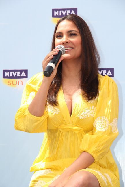 Lara Dutta During The Launch of NIVEA Sun