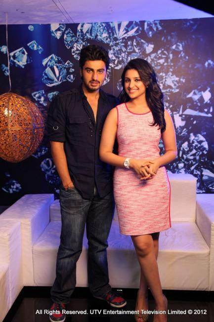 Arjun and Parineeti at Various Ishaqzaade Promotional Event