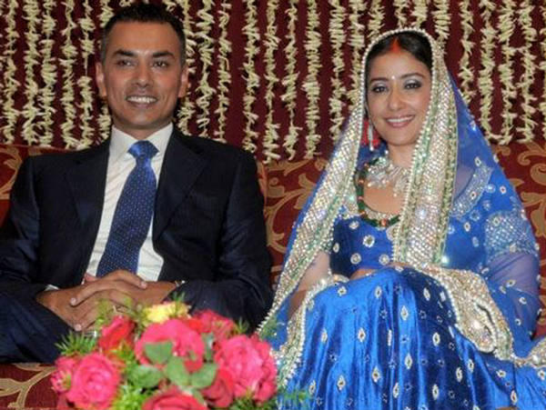 Manisha Koirala And Samrat Dahal Wedding Reception Photo