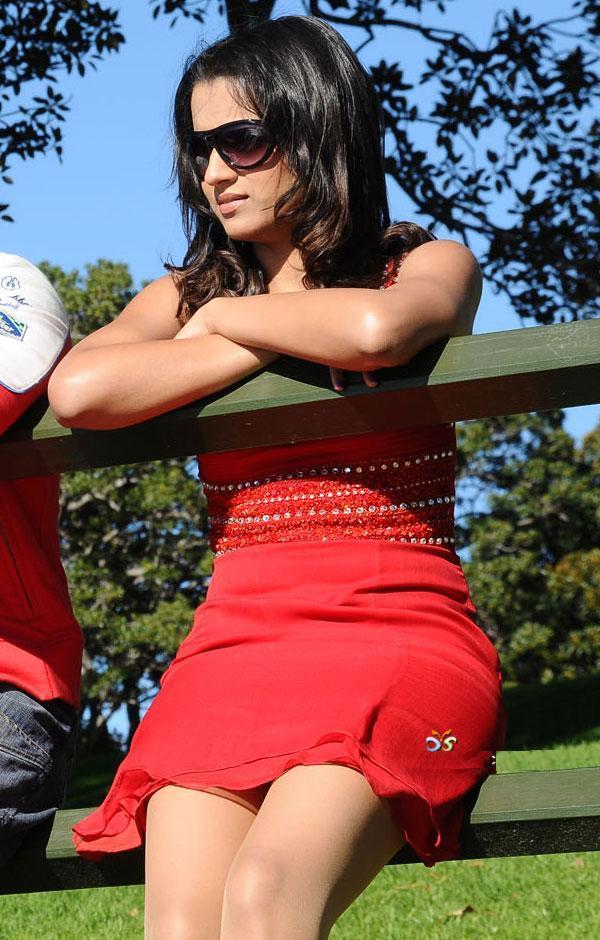 Hot Actress Trisha Red Dress Stylist Photo