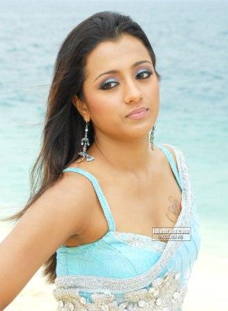 Tollywood Beauty Trisha Krishnan In Saree