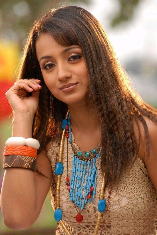 Trisha Krishnan Curly Hair Nice Still