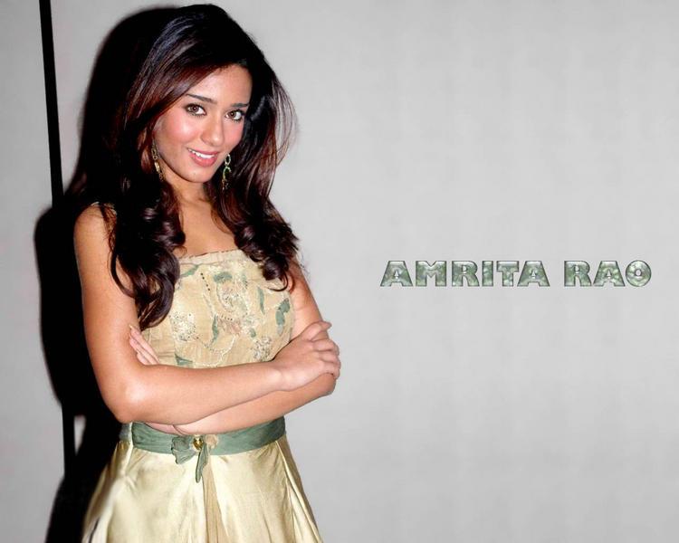 Amrita Rao Gorgeous Face Sexy Look Wallpaper