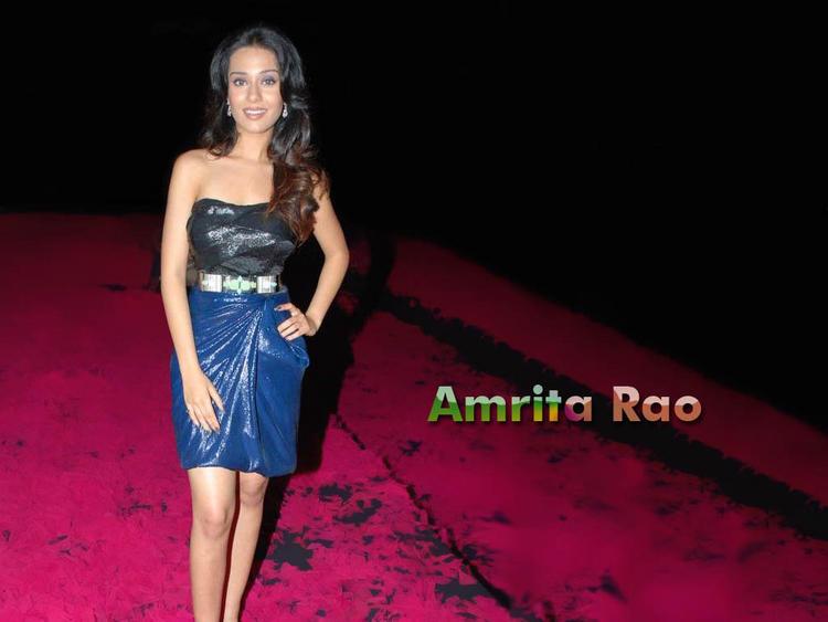 Amrita Rao Sleeveless Dress Gorgeous Wallpaper