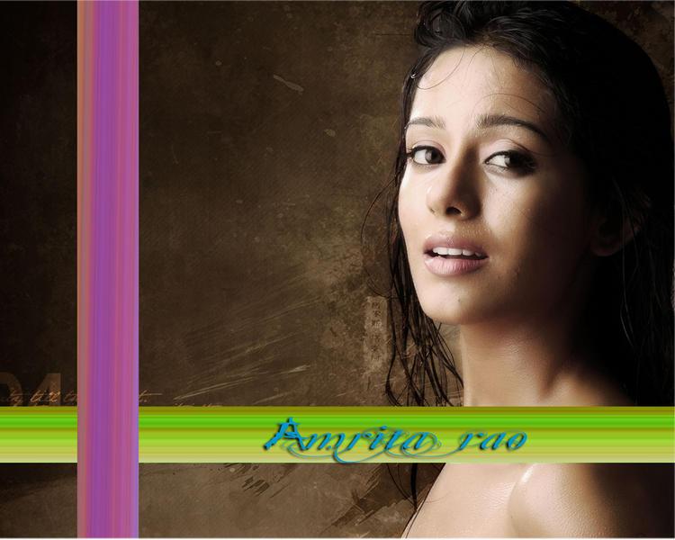 Amrita Rao Wet Look Wallpaper