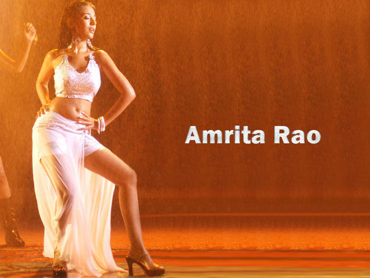Amrita Rao Wet Swim Dance Pose Wallpaper
