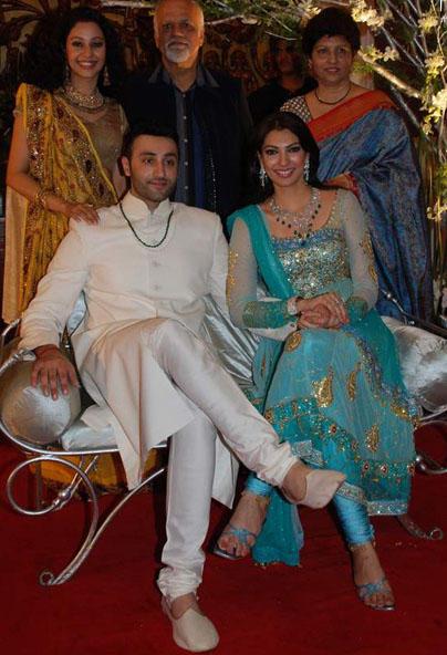 Actress Yukta Mookhey with her Husband Prince Tuli
