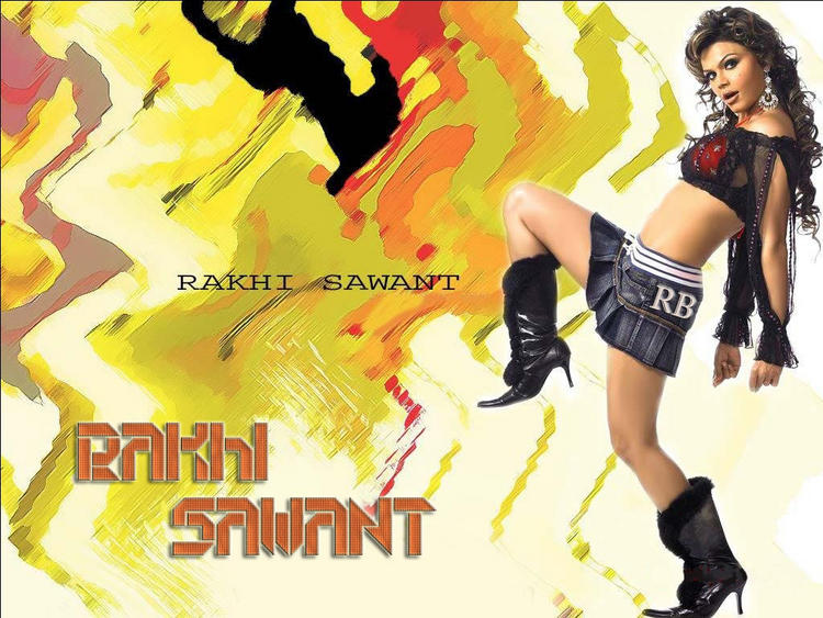 Rakhi Sawant Mini Dress Wallpaper