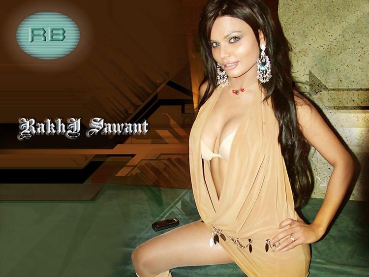Rakhi Sawant Open Boob Wallpaper