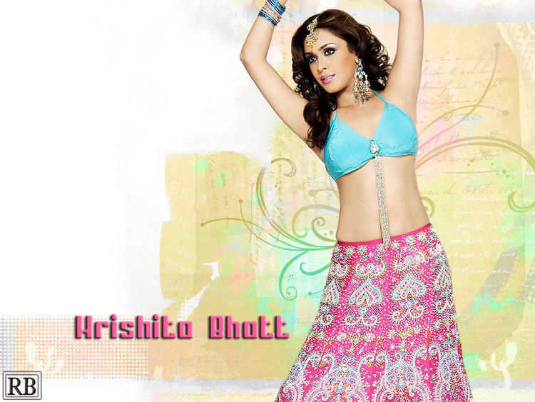 Hrishita Bhatt Dancing Pose Wallpaper