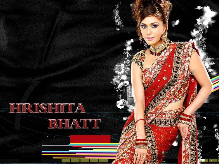 Hrishita Bhatt Sexy Pose In Saree