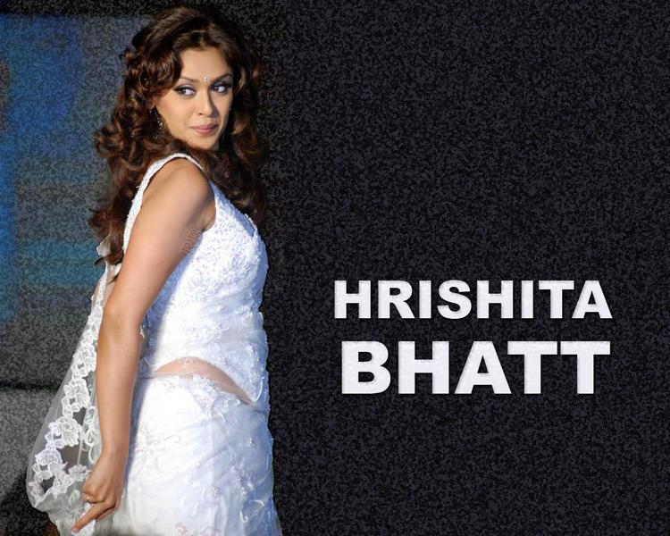 Hrishita Bhatt White Dress Wallpaper