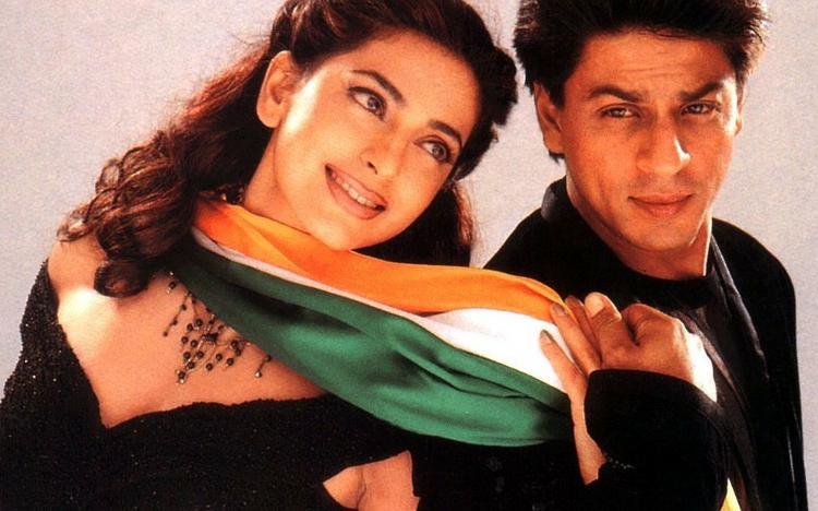 Juhi and Shahrukh Romance Still