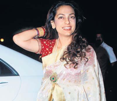 Juhi Chawla In Transparent Saree Gorgeous Pic