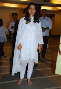 Juhi Chawla In White Salwar Suit