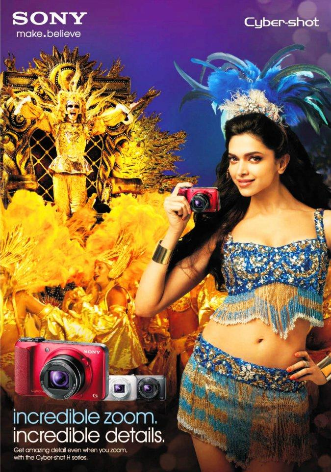 Deepika Padukone for Sony Cybershot Camera Print Ad