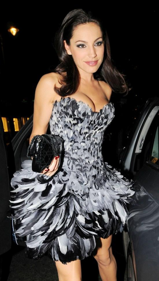 Kelly Brook Beautiful Prom Dress Still