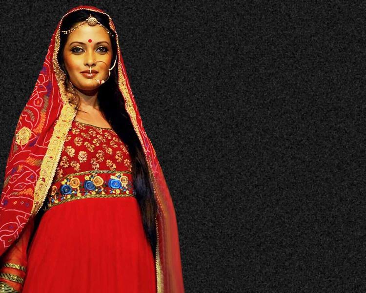 Riya Sen Wallpaper With Beautiful Dress