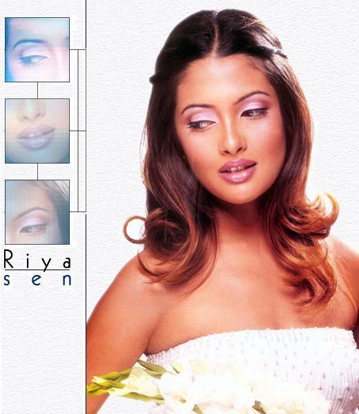 Riya Sen Wet Face Look Wallpaper