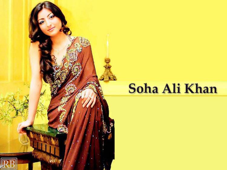 Soha Ali Khan Looking So Gorgeous In Saree