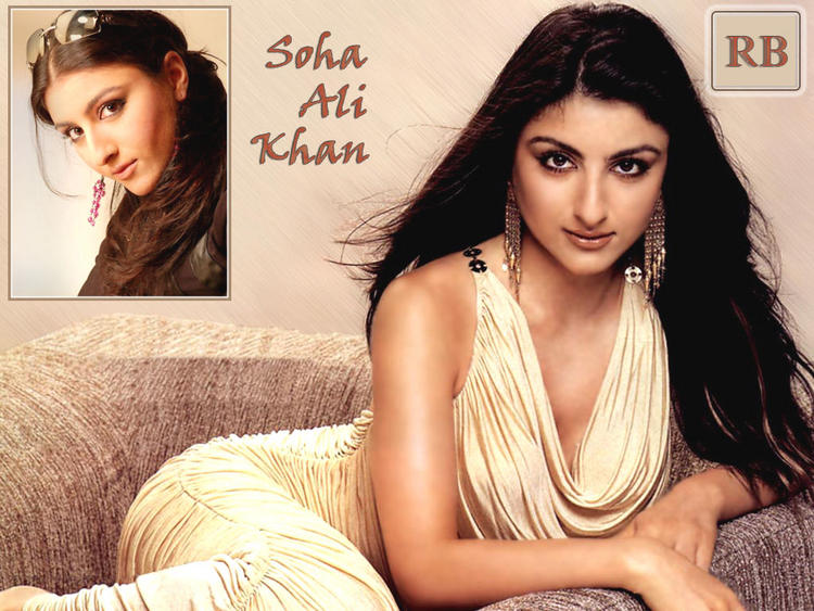 Soha Ali khan Sexy and Spicy Look Wallpaper