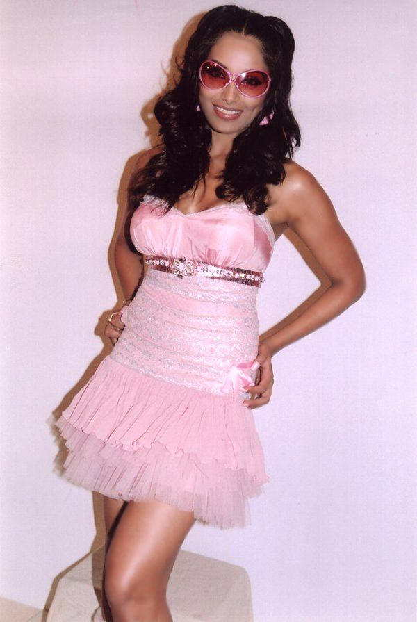 Bipasha Basu Cute Pink Dress Cute Sexy Still