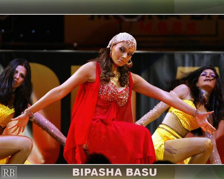 Bipasha Basu Dance Still In Red Dress