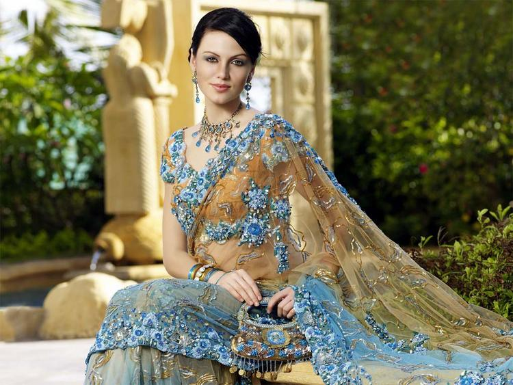 Yana Gupta Beauty Still In Transparent Saree