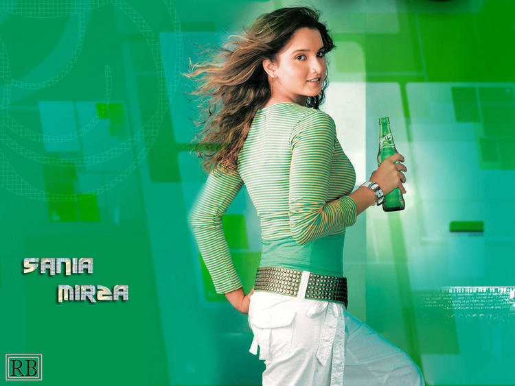 Sania Mirza sprite Ad Sexy Wallpaper