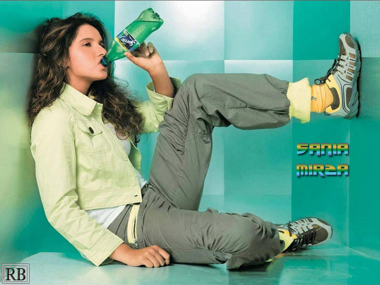 Sania Mirza Sprite Ad Wallpaper