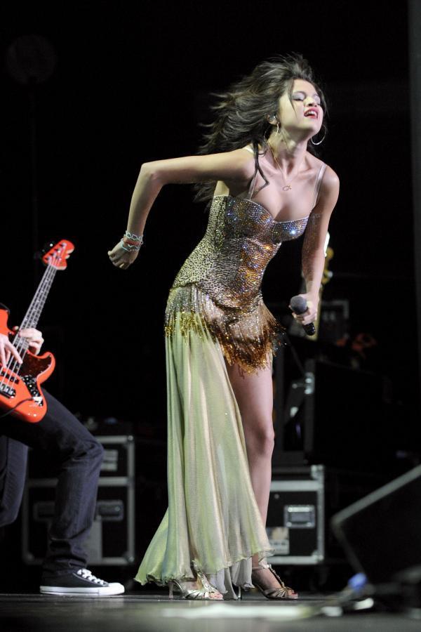 Selena Gomez Rock Performance Still