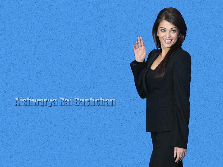 Aishwarya Rai Cool Look In Black Blazer And Pant Wallpaper