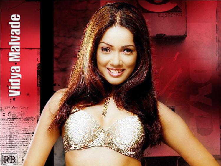 Vidya Malvade Wet Bikini and Gorgeous Smiling Face Wallpaper