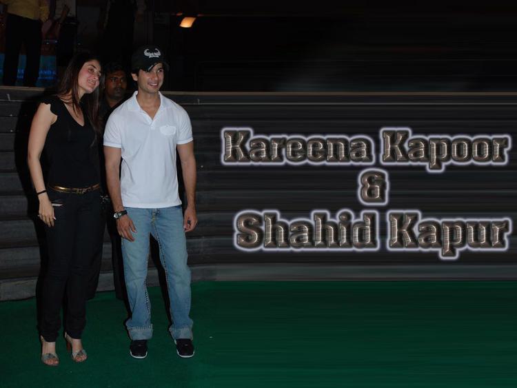 Kareena Kapoor and Shahid Kapoor Latest Wallpaper