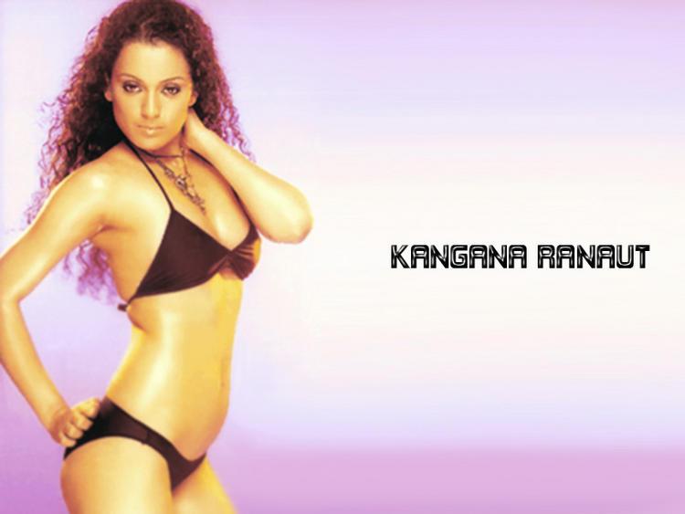 Kangana Ranaut Bold Wallpaper In Bikini