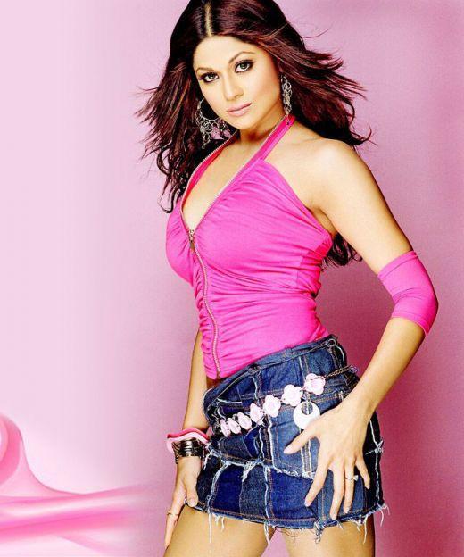 Shamita Shetty Hot Photo Shoot In Mini Skirt
