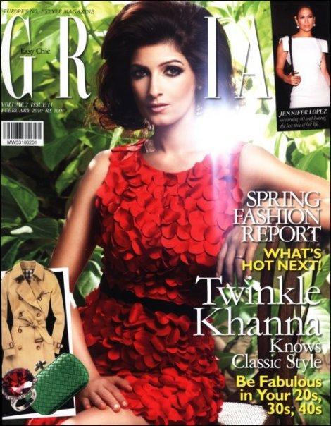 Twinkle Khanna Grazia Magazine Still