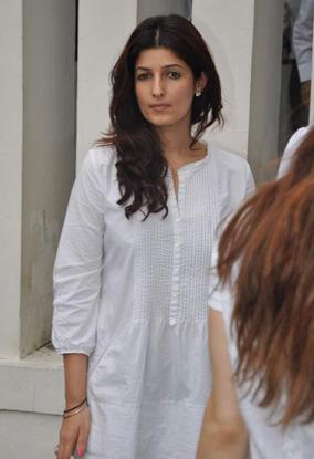 Twinkle Khanna White Dress Nice Still