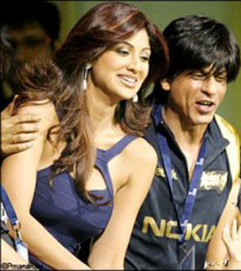 Shahrukh Khan and Shilpa at IPL
