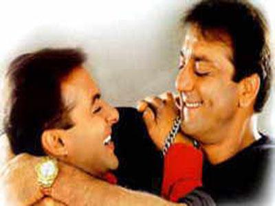 Sanjay Dutt and Salman Smiling Photo