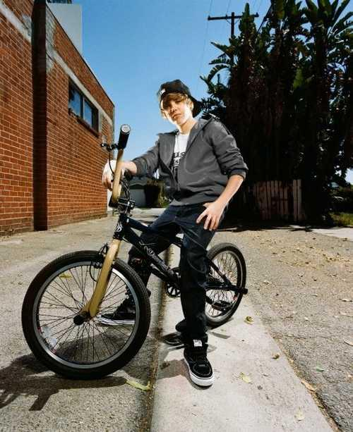 Justin Bieber Stylist Pic On Bicycle