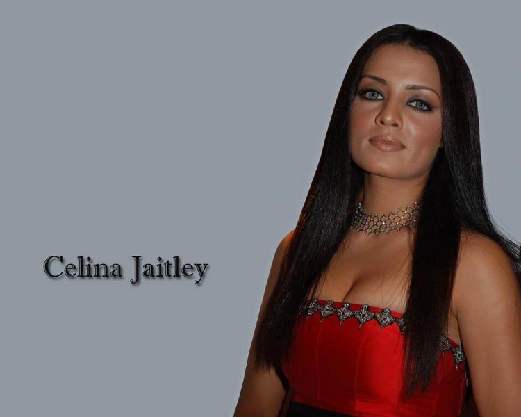 Celina Jaitley Open Boob Show Glamour Wallpaper