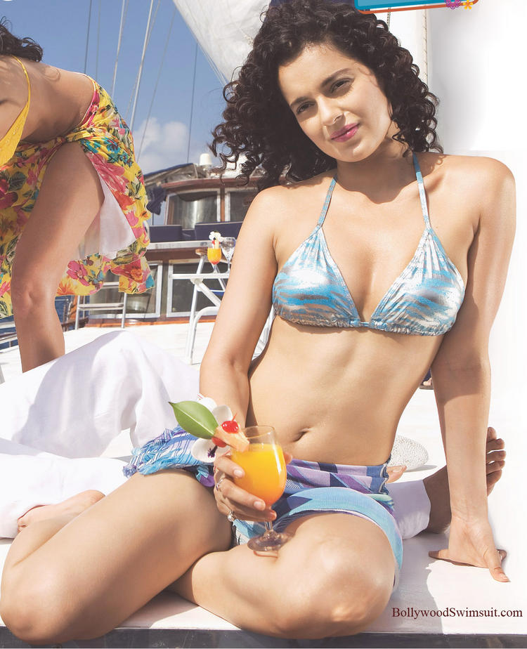 Kangana Ranaut In Bikini Hot Wallpaper