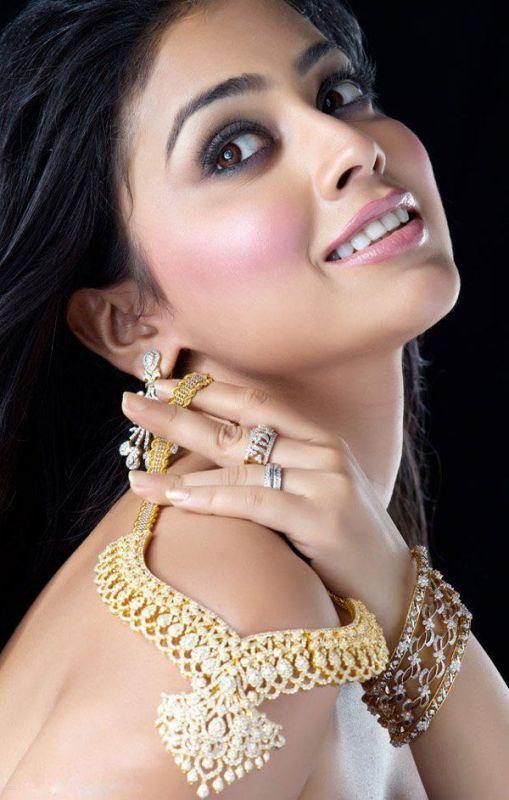 Shriya Saran Beautiful Nakelace Still