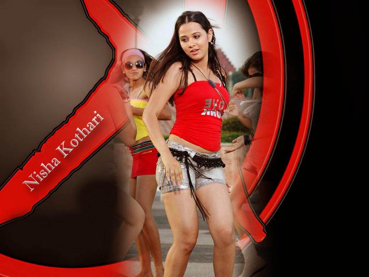 Nisha Kothari Sexy Dance Pose Wallpaper