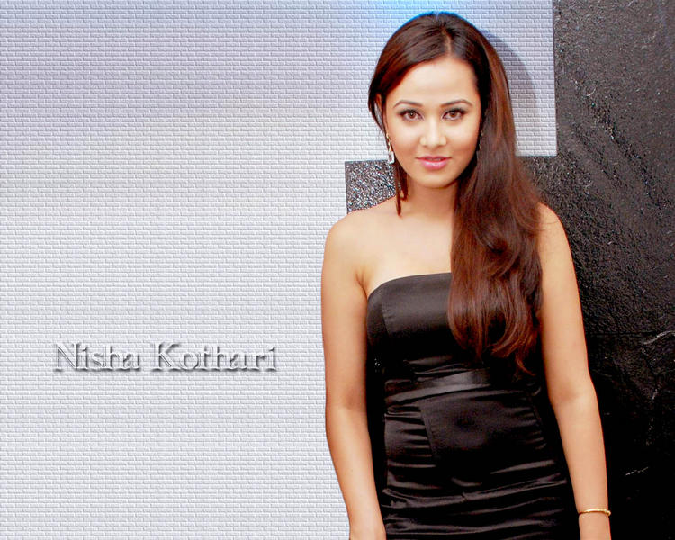 Nisha Kothari Strapless Dress Nice Wallpaper