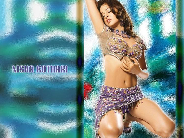 Nisha Kothari Wet Outfit Romancing Wallpaper