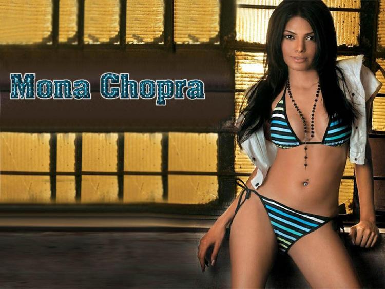 Bikini Babe Mona Chopra Wallpaper