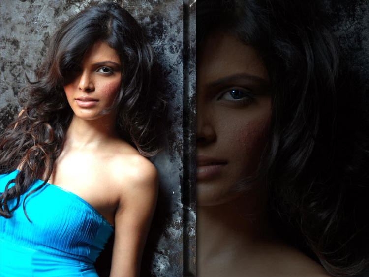 Mona Chopra in Strapless Dress Romancing Face Still